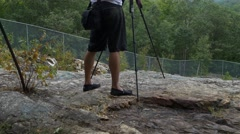 Photographer takes wilderness shots Stock Footage