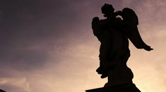 Stock Video Footage of silhouette of an angel in Rome: Vatican, christianity, pope, faith, religion