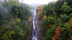 Autumn View From Quechee Gorge  Bridge Stock Footage