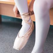 Beautiful little ballerina in pink dress in dance class Stock Photos