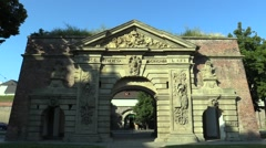 Theresian Gate, named after the Maria Theresa Stock Footage