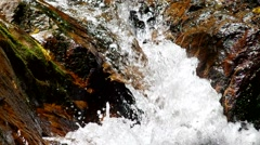waterfall pass through the rock - stock footage