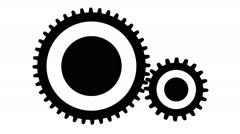 Silhouette gears, seamless loop Stock Footage