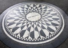 The Imagine mosaic at Strawberry Fields in Central Park, New York Stock Photos