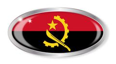 Stock Illustration of Angola Flag Oval Button