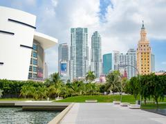 Downtown Miami including the Freedom Tower and the American Airlines Arena Kuvituskuvat