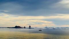 4K UHD time lapse of sunset sky at Loy island, Sriracha, Thailand Stock Footage