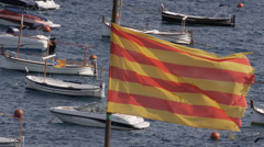 Flag of Catalonia - stock footage