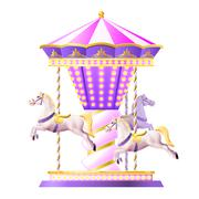 Retro Carousel Illustration Piirros