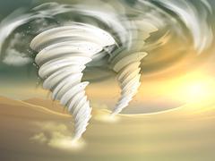 Tornado Swirls Illustration Stock Illustration