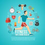 Fitness Concept Illustration Stock Illustration