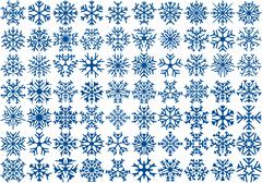 Set of 70 vector snowflakes Stock Illustration