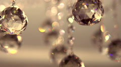 Crystal Chandelier. Luxury crystals of a classic chandelier close up. Stock Footage
