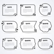 Timeless wisdom quotes outlined icons set Stock Illustration