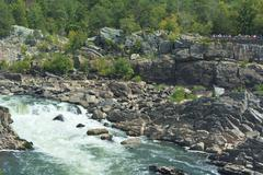 Stock Photo of Great Falls Park on the Potomac River
