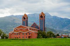 Roman Catholic Church of St. Peter the Apostle, Bar, Montenegro Stock Photos
