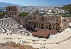 The Odeon of Herodes Atticus, Athens. - stock photo
