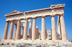 Parthenon on the Acropolis, Athens, Greece - stock photo