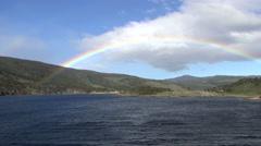 Rainbow above the sea Stock Footage