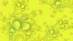 Neon yellow abstract fractal background - stock photo
