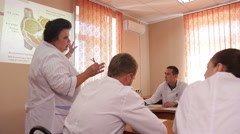 ODESSA, UKRAINE - The 12 th of May 2015. Medical symposium of doctors. Stock Footage
