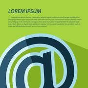 """Vector """"at"""" simbol icon with text. Eps10 - stock illustration"""