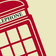 Vector telephone box icon. Eps10 - stock illustration