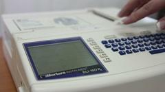Electrocardiogram (ECG) sensors gave the result of heart test. Arkistovideo