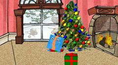 Dancing Christmas Present:  Looping - stock footage