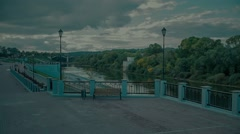 Embankment of the Dnieper River in Smolensk Stock Footage