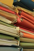 Stacked office files - stock photo