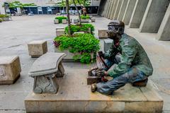 Sculpture in Alpujarra Administrative Center, Medellin city, Colombia - stock photo