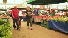 Biggest and most crowded bazaar in Izmir. Located in Bostanli, Karsiyaka Stock Footage