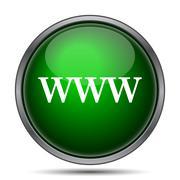 Stock Illustration of WWW icon. Internet button on white background..