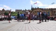 Traditional folk Irish dance - stock footage