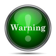 Stock Illustration of Warning icon. Internet button on white background..
