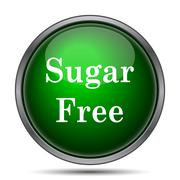Stock Illustration of Sugar free icon. Internet button on white background..