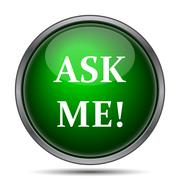 Ask me icon. Internet button on white background.. Stock Illustration