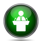 Speaker icon. Internet button on white background.. - stock illustration