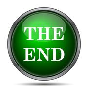 Stock Illustration of The End icon. Internet button on white background..