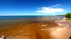 Union River and Lake Superior Stock Footage