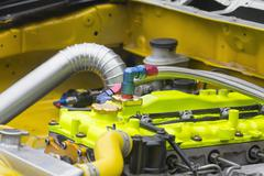 Racing car engine Stock Photos