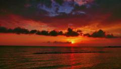 Excellent sunset views. Taymlaps Stock Footage