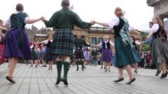 Traditional folk Irish dance Stock Footage