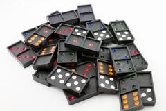 black domino - stock photo