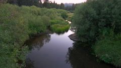 Mountain Creek at Sunset Stock Footage