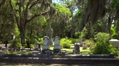 Bonaventure Cemetery In Savannah, Georgia Stock Footage