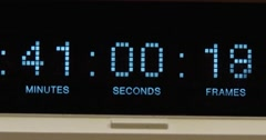 Timecode - BetaSP deck - Close Up - 4k Stock Footage