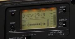 Running Timecode - Beta camera - Close Up - 4k Stock Footage