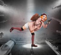Clown caught Kuvituskuvat